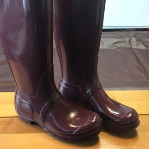 Hunter Shoes - Tall Hunter burgundy rain boots